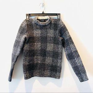 Rag & Bone 100% Wool Grey Plaid Sweater
